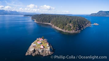 Chrome Island (foreground) and Denman Island, Hornby Island in the distance