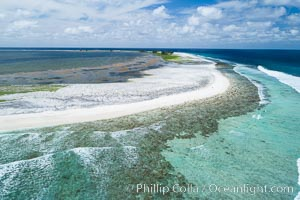 Clipperton Island aerial photo. Clipperton Island, a minor territory of France also known as Ile de la Passion, is a spectacular coral atoll in the eastern Pacific. By permit HC / 1485 / CAB (France)