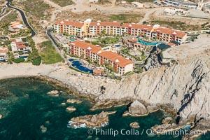 Hacienda Encantada Resort and Spa, Punta Ballena and Faro Cabesa Ballena. Residential and resort development along the coast near Cabo San Lucas, Mexico