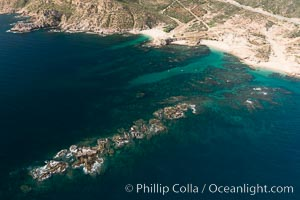 Chileno Bay, Bahia Chileno. Residential and resort development along the coast near Cabo San Lucas, Mexico