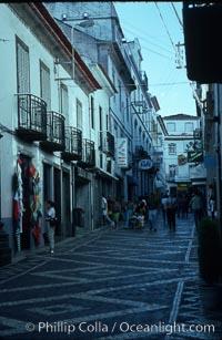 Cobblestone street, Ponta Delgada, Sao Miguel Island