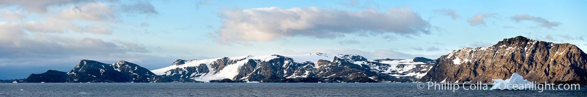 Coronation Island panoramic photo