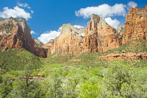 Court of the Patriarchs, named for the three Hebrew prophets Abraham, Isaac and Jacob, Zion National Park, Utah