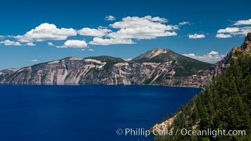 Crater Lake National Park. Crater Lake National Park, Oregon, USA, natural history stock photograph, photo id 28671