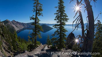 Crater Lake National Park. Crater Lake National Park, Oregon, USA, natural history stock photograph, photo id 28672