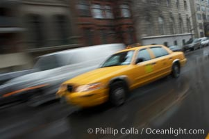 Crazy taxi ride through the streets of New York City, Manhattan