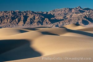 Sand Dunes, California.  Near Stovepipe Wells lies a region of sand dunes, some of them hundreds of feet tall. Stovepipe Wells, Death Valley National Park, California, USA, natural history stock photograph, photo id 15587