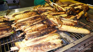 Grilled corn, corn cobs, Del Mar Fair