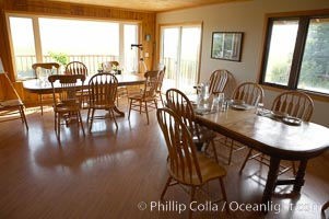 Dining room, Silver Salmon Creek Lodge, Lake Clark National Park, Alaska
