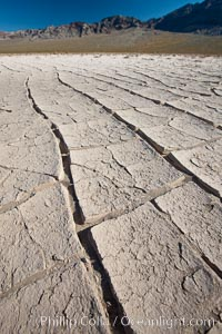 Dried mud, arid land, Eureka Valley. Eureka Valley, Death Valley National Park, California, USA, natural history stock photograph, photo id 25244