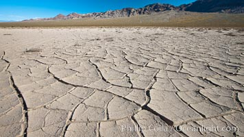 Dried mud, arid land, Eureka Valley, Death Valley National Park, California
