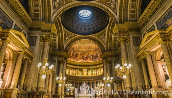 Eglise de la Madeleine, a Roman Catholic church in the 8th arrondissement of Paris, designed in its present form as a temple to the glory of Napoleon's army. Eglise de la Madeleine, Paris, France, natural history stock photograph, photo id 28088