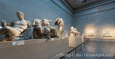 Elgin Marbles, a collection of classical Greek marble sculptures that originally were part of the Parthenon of Athens, British Museum, London, United Kingdom