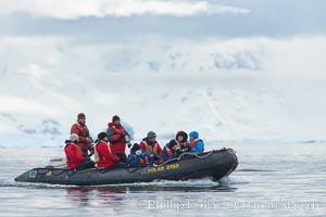 Enjoying a zodiac ride in Neko Harbor, Antarctica