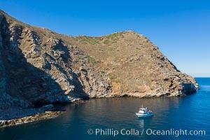Aerial Photo of North Coronado Island, Baja California, Mexico, Coronado Islands (Islas Coronado)
