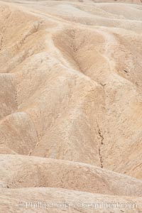 Eroded hillsides near Zabriskie Point and Gower Wash, Death Valley National Park, California