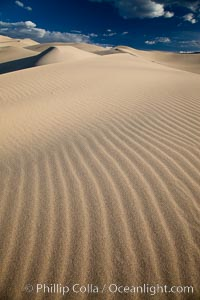 Eureka Dunes.  The Eureka Valley Sand Dunes are California&#39;s tallest sand dunes, and one of the tallest in the United States.  Rising 680&#39; above the floor of the Eureka Valley, the Eureka sand dunes are home to several endangered species, as well as &#34;singing sand&#34; that makes strange sounds when it shifts.  Located in the remote northern portion of Death Valley National Park, the Eureka Dunes see very few visitors