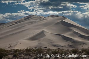 Eureka Valley Sand Dunes.  The Eureka Dunes are California&#39;s tallest sand dunes, and one of the tallest in the United States.  Rising 680&#39; above the floor of the Eureka Valley, the Eureka sand dunes are home to several endangered species, as well as &#34;singing sand&#34; that makes strange sounds when it shifts, Death Valley National Park