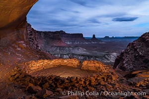 False Kiva at Sunset, Canyonlands National Park, Utah