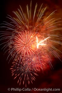 Fireworks. Aviara, Carlsbad, California, USA, natural history stock photograph, photo id 18991