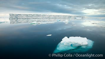 Floating ice and glassy water, Paulet Island
