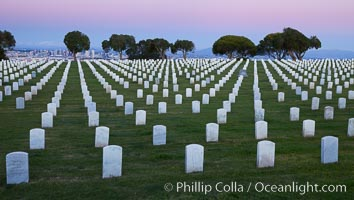 Fort Rosecrans National Cemetery. San Diego, California, USA, natural history stock photograph, photo id 26571
