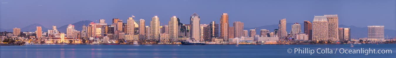 San Diego City Skyline viewed from Harbor Island