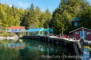 Gods Pocket Resort, on Hurst Island, part of Gods Pocket Provincial Park. British Columbia, Canada, natural history stock photograph, photo id 34497