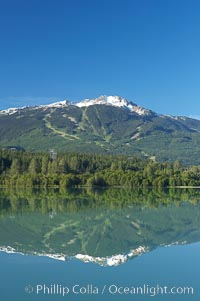 Green Lake, with Whistler Mountain in the distance