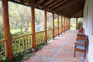 Hacienda Cusin, a 17th-century estate in the Ecuadorian Andes near Otavalo, San Pablo del Lago