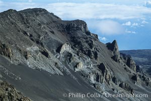Haleakala Volcano crater slope. Maui, Hawaii, USA, natural history stock photograph, photo id 04547