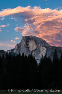 Half Dome and sunset clouds, evening, Yosemite National Park, California