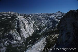 View from summit of Half Dome. Half Dome, Yosemite National Park, California, USA, natural history stock photograph, photo id 03457