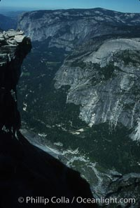 View from summit of Half Dome, Yosemite National Park, California