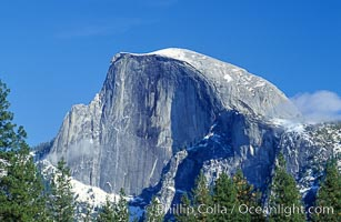 Half Dome, Yosemite Valley. Half Dome, Yosemite National Park, California, USA, natural history stock photograph, photo id 07039
