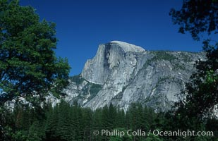 Half Dome, late spring. Half Dome, Yosemite National Park, California, USA, natural history stock photograph, photo id 07118