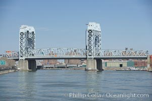 Harlem River Lift Bridge. Manhattan, New York City, New York, USA, natural history stock photograph, photo id 11145