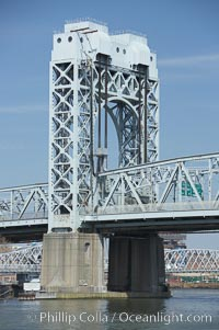 Harlem River Lift Bridge. Manhattan, New York City, New York, USA, natural history stock photograph, photo id 11146