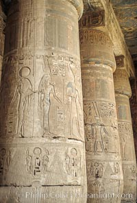 Heiroglyphics. Luxor, Egypt, natural history stock photograph, photo id 02595