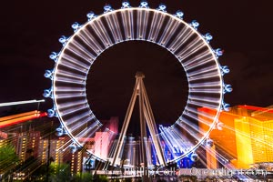 High Roller Ferris Wheel at Night, Las Vegas, Nevada