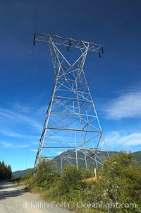 High tension power lines, Whistler, British Columbia, Canada