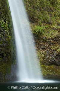 Horsetail Falls drops 176 feet just a few yards off the Columbia Gorge Scenic Highway, Columbia River Gorge National Scenic Area, Oregon