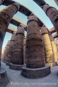 Hypostyle hall, Karnak Temple. Luxor, Egypt, natural history stock photograph, photo id 02592