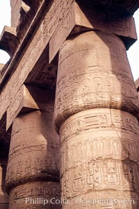 Hypostyle Hall of Columns, Karnak Temple complex. Luxor, Egypt, natural history stock photograph, photo id 18477