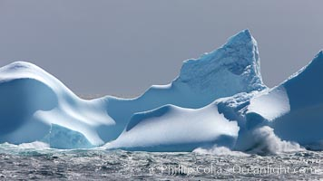 Iceberg detail, at sea among the South Orkney Islands, Coronation Island, Southern Ocean