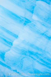 Blue iceberg detail. Paulet Island, Antarctic Peninsula, Antarctica, natural history stock photograph, photo id 24835