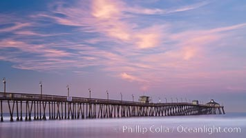 Imperial Beach pier at sunrise, Imperial Beach, California, USA, natural history stock photograph, photo id 27411