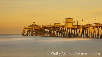 Imperial Beach pier at sunrise, Imperial Beach, California, USA, natural history stock photograph, photo id 27417