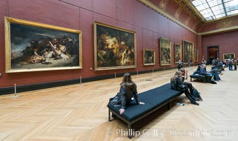 Gallery of Italian Painting, Musee du Louvre, Paris, France. Musee du Louvre, Paris, France, natural history stock photograph, photo id 28108