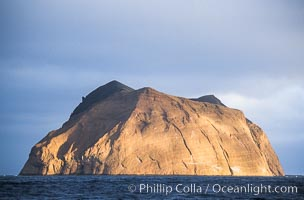 Isla Adentro in dramatic early morning light, Guadalupe Island (Isla Guadalupe)
